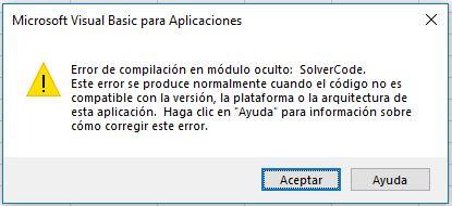 error solver 64bits