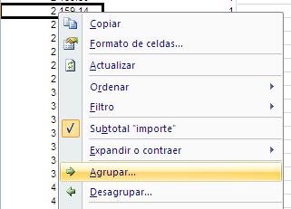 agrupar categoría en tabla dinámica