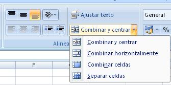 combinar celdas en Excel
