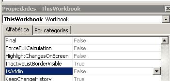 indicar a Excel si un libro es un complemento
