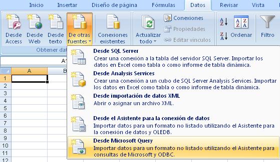 MSQuery para consultar datos de otro libro Excel