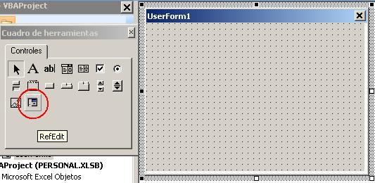 control de formulario en Excel VBA para elegir una referencia.