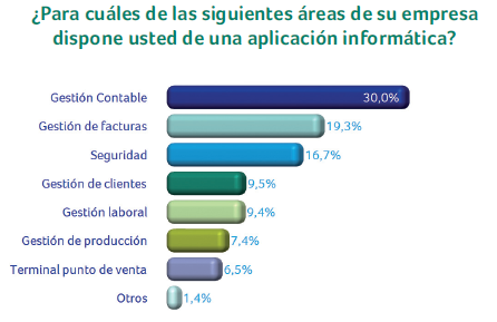 Aplicaciones informáticas en las empresas españolas 2010