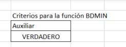 criterios funciones BD en Excel