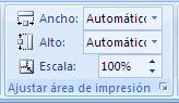 ajustar área de impresión en Excel