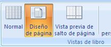 mostrar Excel en vista diseño