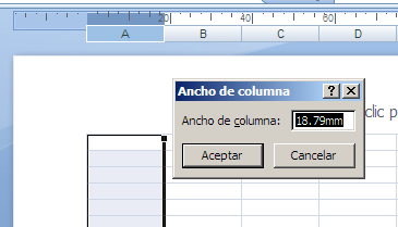 ver hoja de cálculo en modo diseño de página