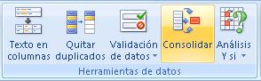 consolidar datos de varias tablas en Excel