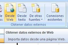 consulta datos web desde Excel