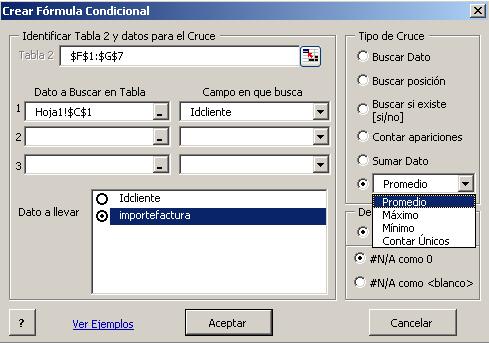 creación de fórmulas condicionales con ddTraDa