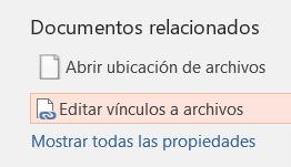 editar vínculos a archivos en Powerpoint