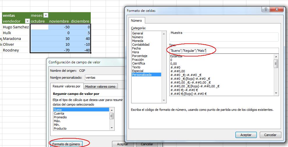 aplicar formato de número a los resultados de una tabla dinamica en excel