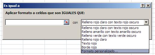 formato condicional personalizado en Excel