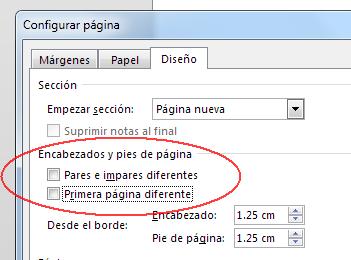 configurar página en Word