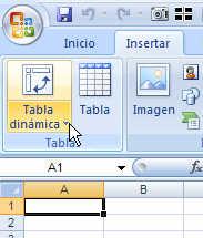 insertar tabla dinámica en excel 2007