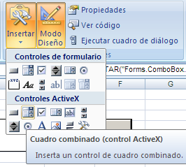control ActiveX combobox