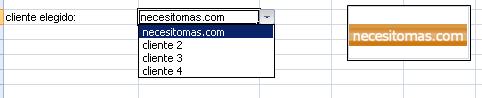 elegir el logo mediante un combo en Excel