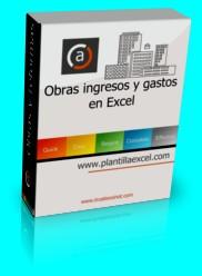 Obras ingresos gastos en Excel