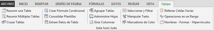datos y tablas con Excel