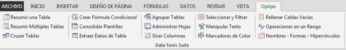 datos y tablas con Excel
