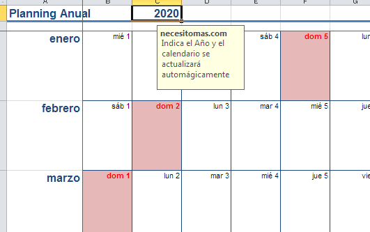 planning anual perpetuo