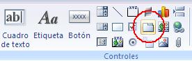 insertar un control ficha, tabcontrol, en el formulario