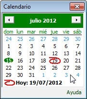 calendario para elegir la fecha deseada